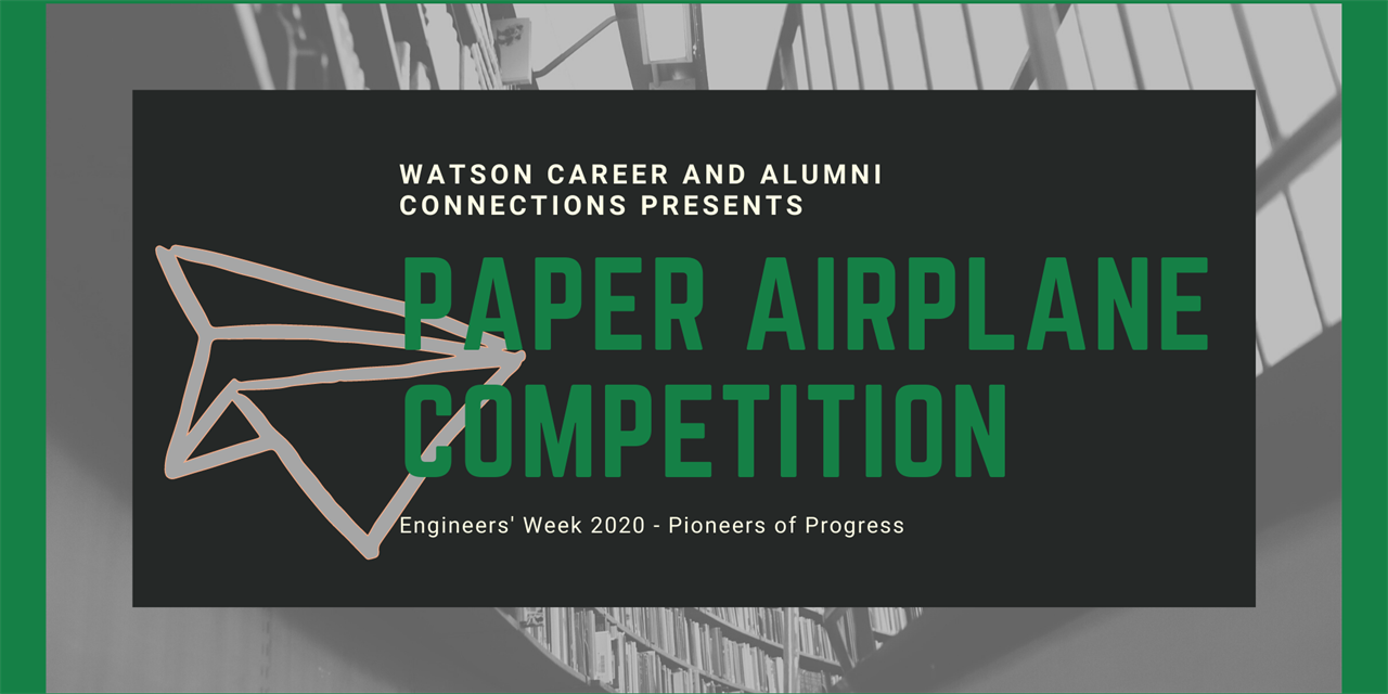Paper Airplane Competition Event Logo