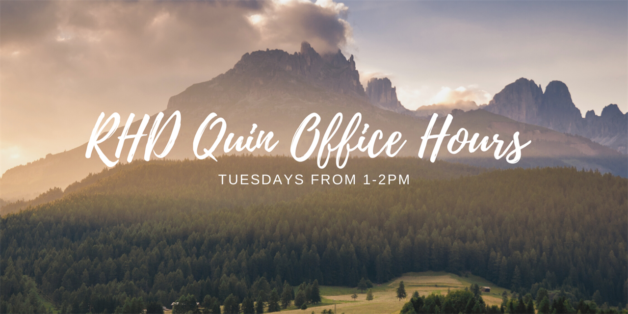 Office Hours with RHD Quin Event Logo