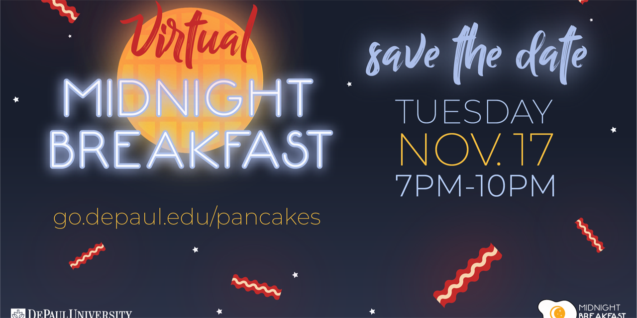 Virtual Midnight Breakfast Event Logo