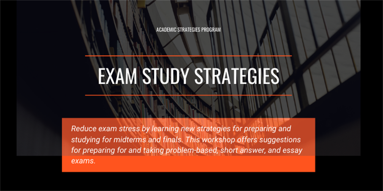 Exam Study Strategies Event Logo