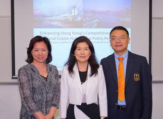 Members of the project team (from left to right): Professor Hanqin Qiu, Professor of the SHTM; Professor Cathy Hsu; and Dr George Liu, Assistant Professor of the SHTM.