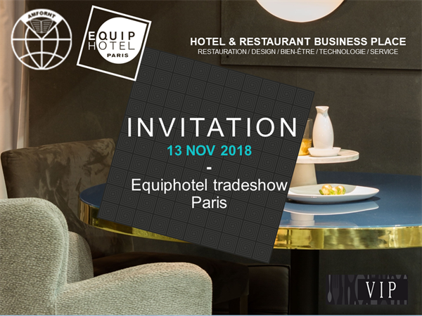 Your AMFORHT invitation to EQUIPHOTEL 2018