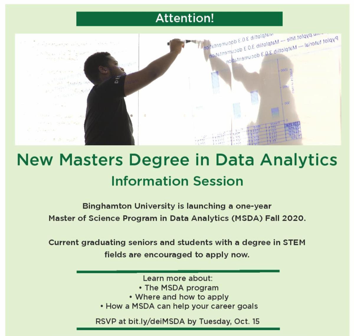 Master of Science in Data Analytics Information Sessions