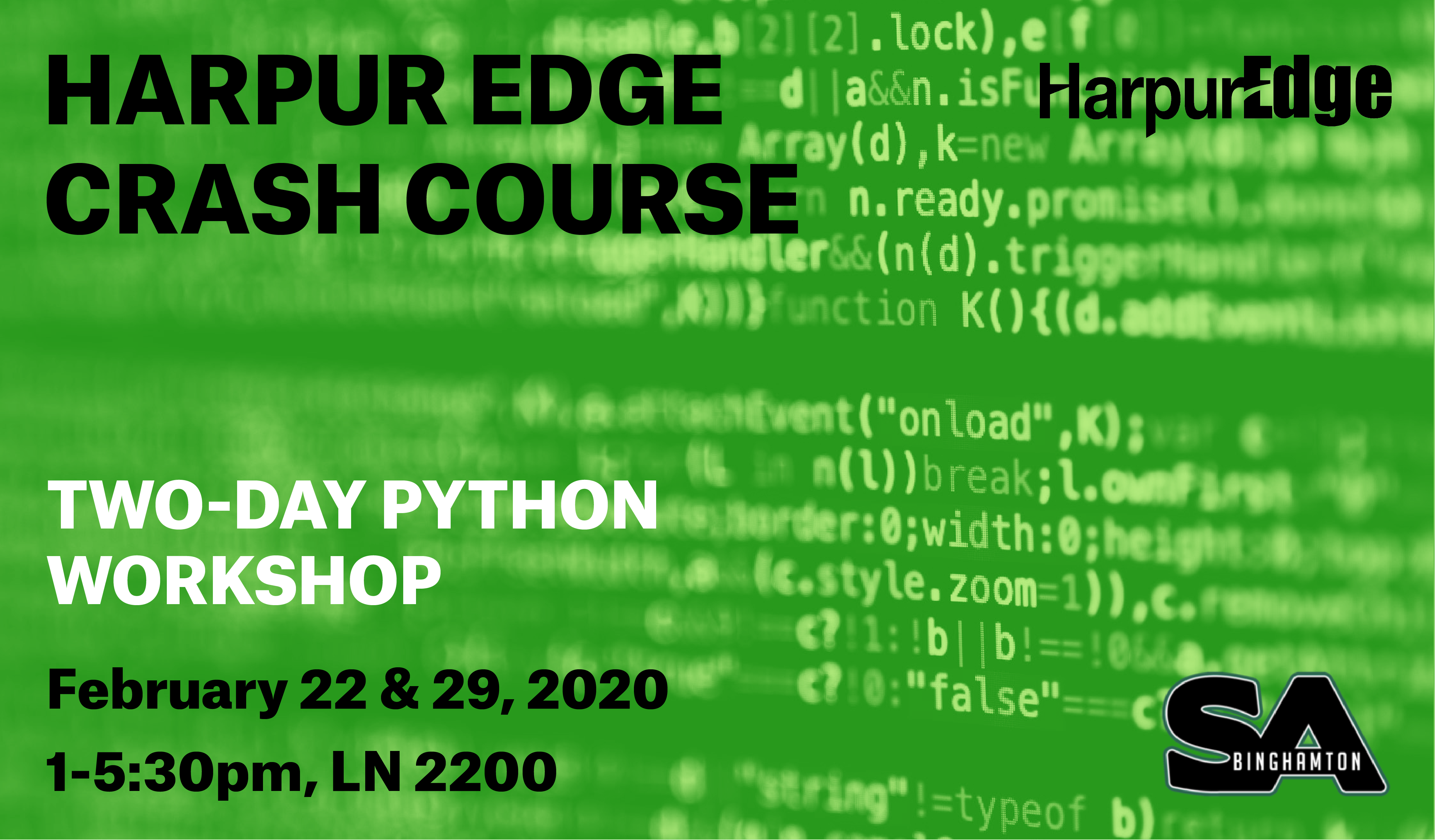 Harpur Edge Crash Course: 2 Day Python Workshop