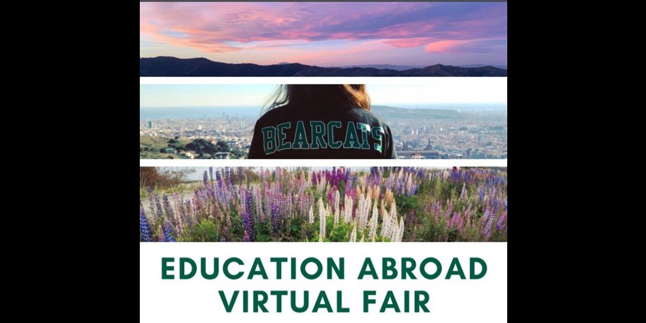 Spring 2021 Education Abroad Virtual Fair Event Logo