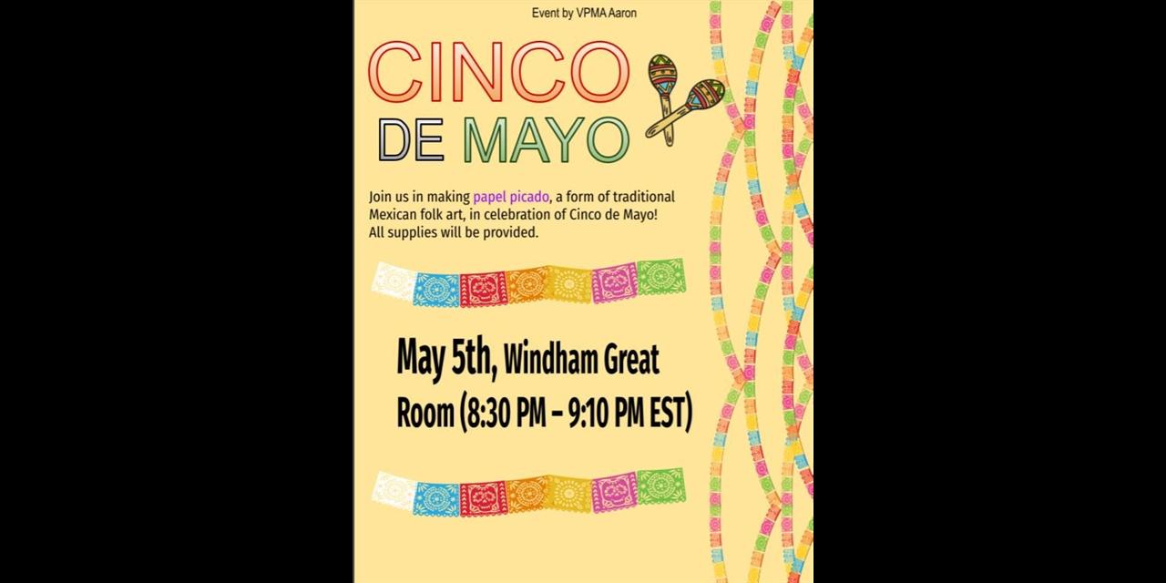 Papel Picado Craft and Cinco de Mayo Celebration Event Logo