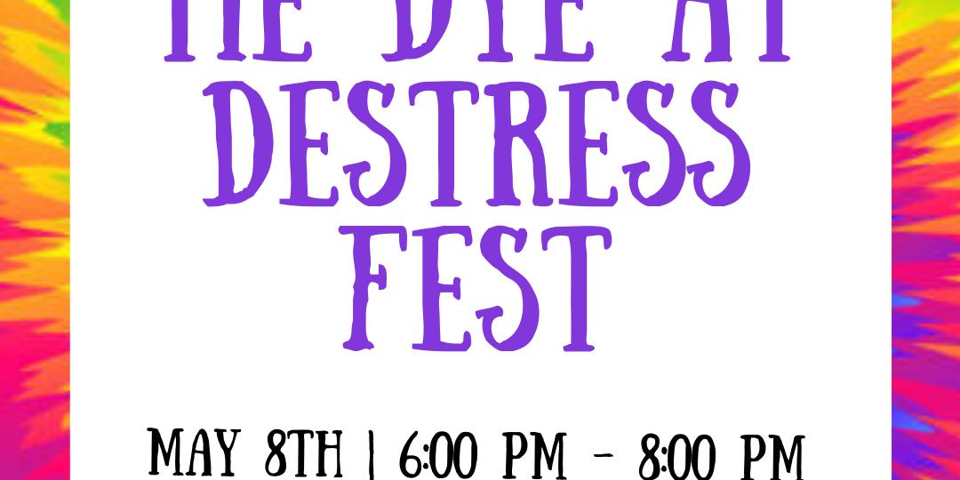 The Q Center Presents at Destress Fest: Tie Dye Event Logo