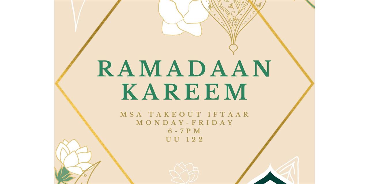 MSA - Takeout Iftaar Event Logo