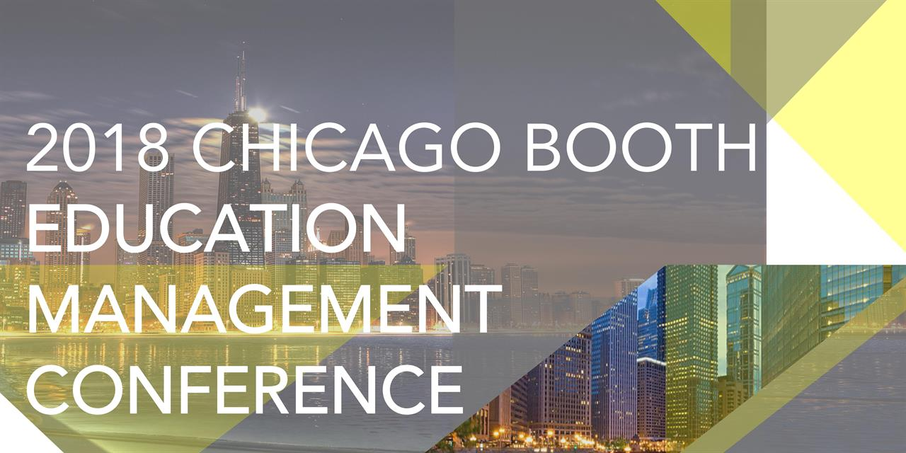 Chicago Booth Education Management Conference Event Logo