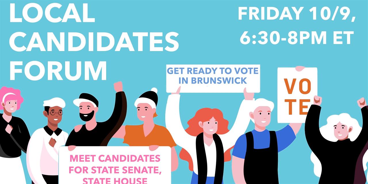 Brunswick Local Candidates Forum Event Logo
