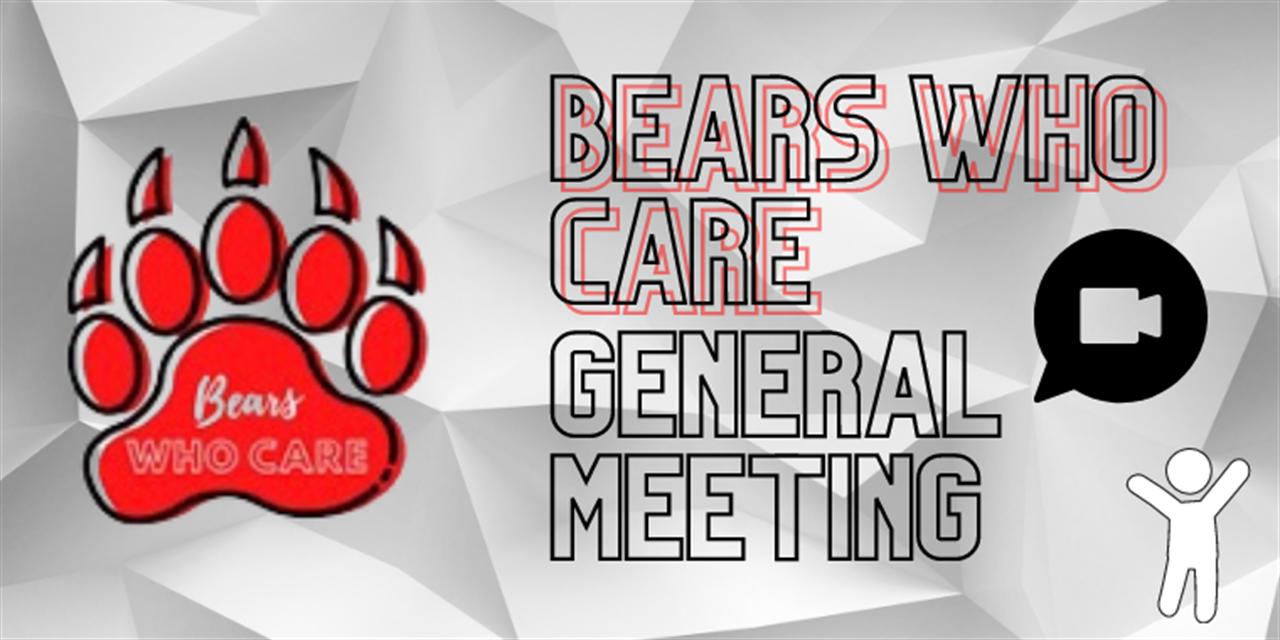 Bears Who Care Meeting Event Logo