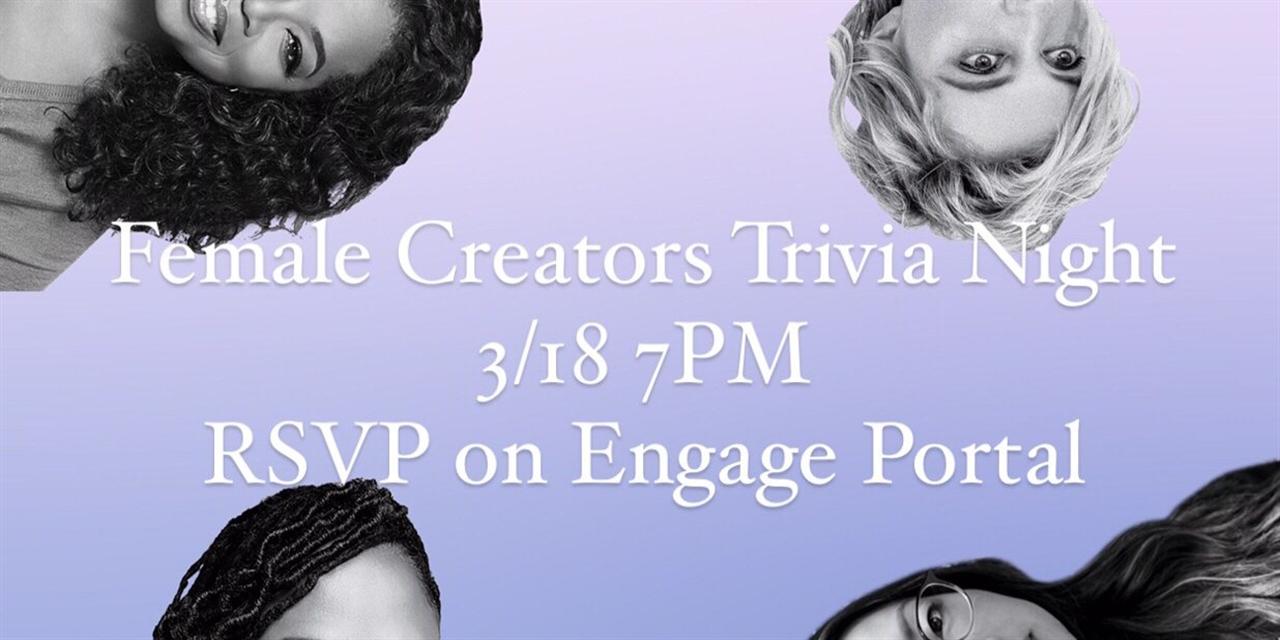 Trivia Night: Female Creators Edition! Event Logo