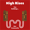 The High Rises: Jameson Hall and High Rise 5's logo