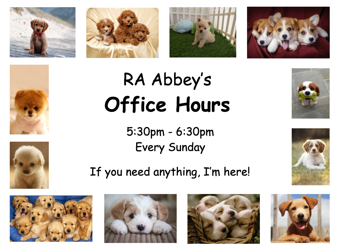 RA Abbey's Office Hours