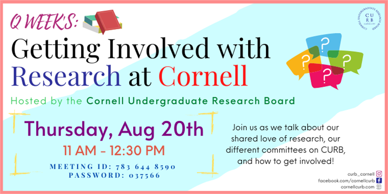 Q Week: Panel- Getting Involved with Research at Cornell