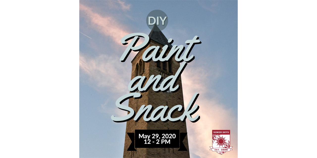 DIY: Paint and Snack at Home: Cornell Clocktower Event Logo