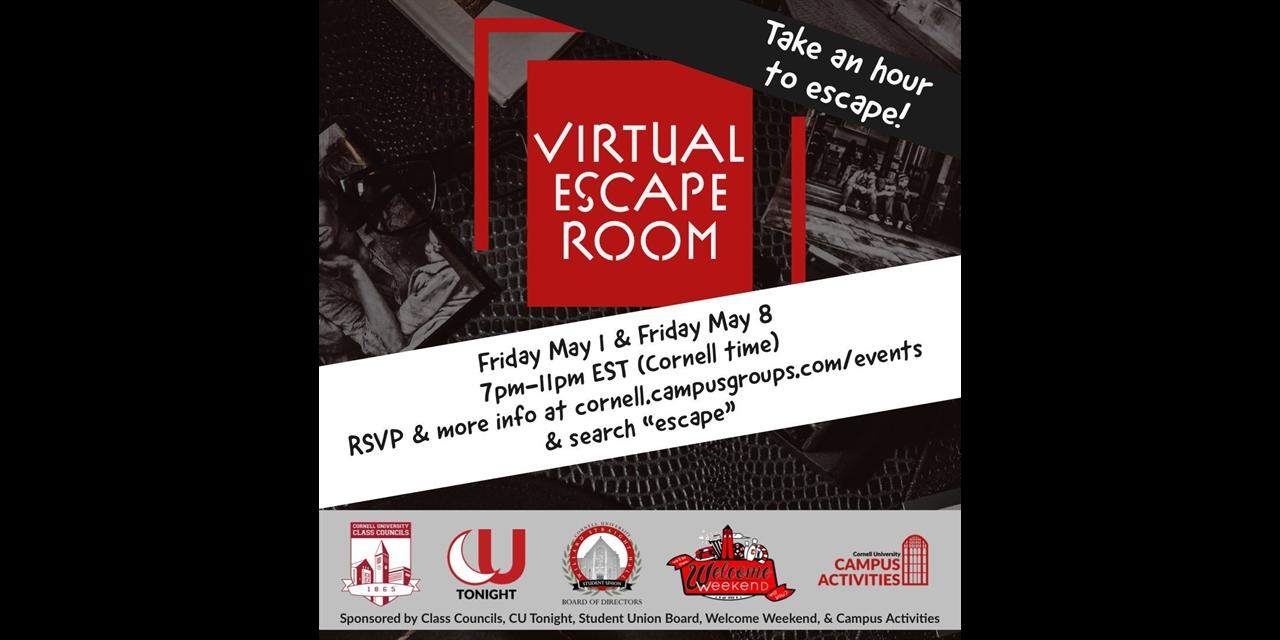 Virtual Escape Room! -- *Registration closed!* Event Logo