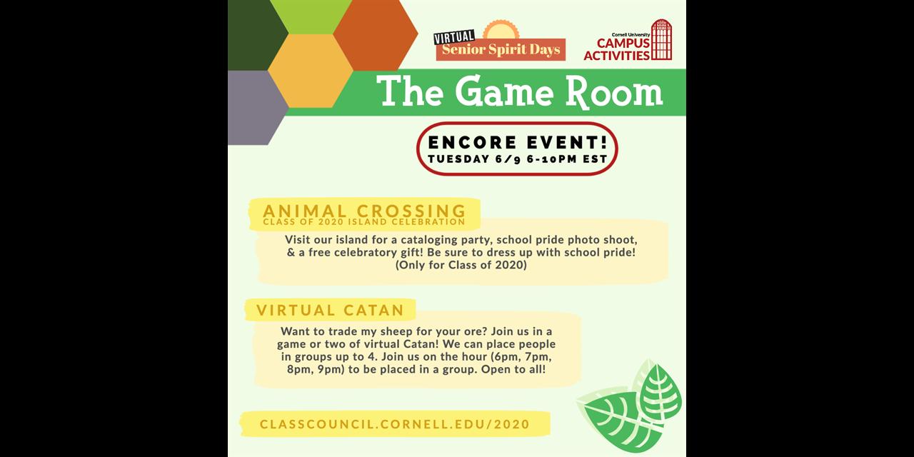Virtual Catan (Game Room): ENCORE Senior Spirit Days Event Event Logo