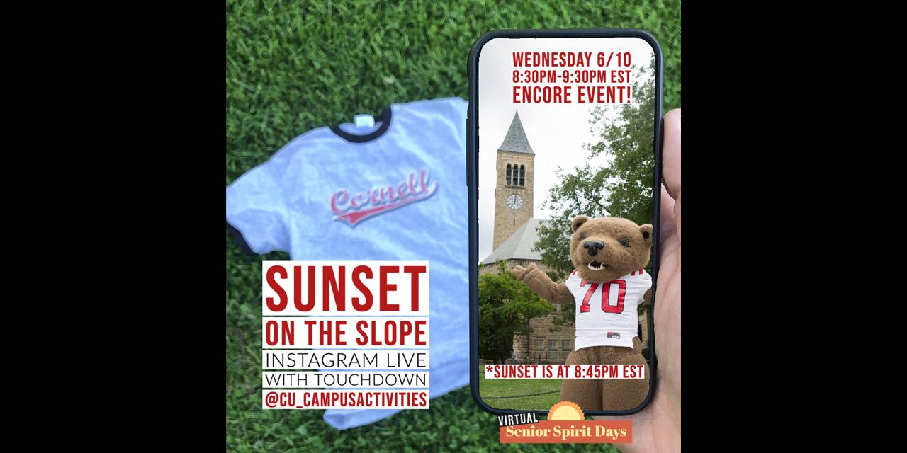 Instagram Live: Sunset on the Slope Event Logo