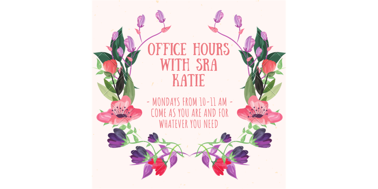 Office Hours with SRA Katie Event Logo