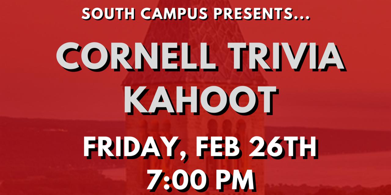 Cornell Trivia Kahoot Event Logo