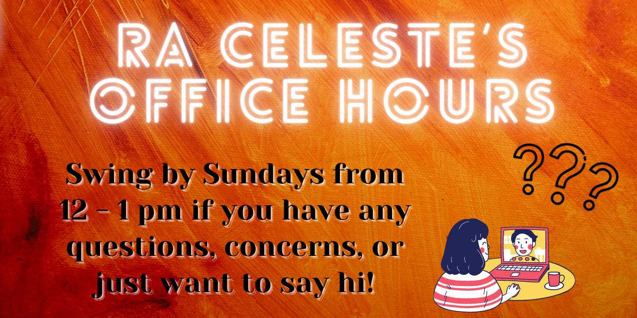 Celeste's Sunday Office Hours! Event Logo