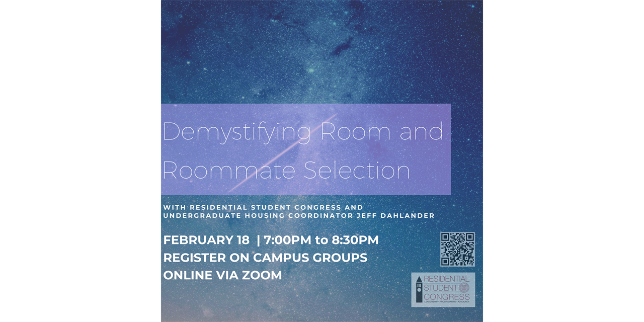 Demystifying Room & Roommate Selection: Speed Friending Edition Event Logo