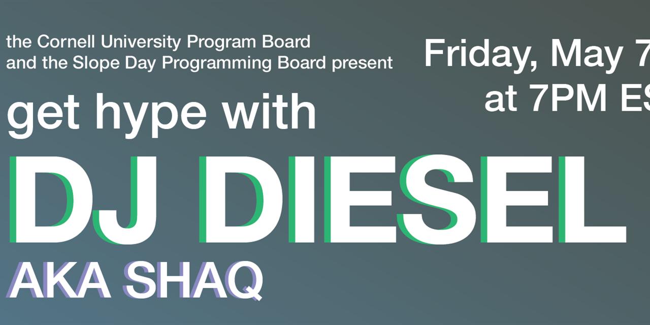 DJ DIESEL Virtual DJ Set with Q&A Event Logo
