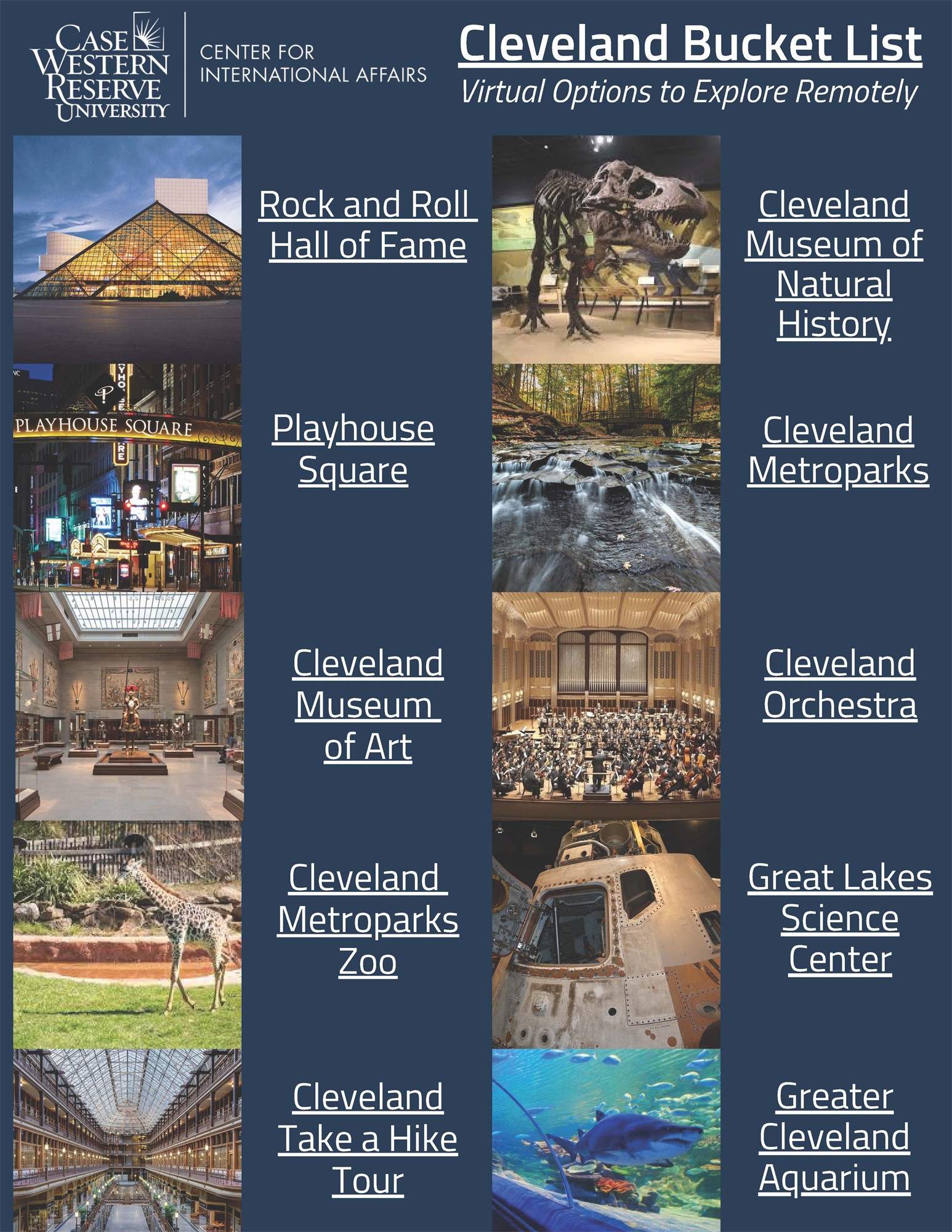 CLE Bucket List Flyer
