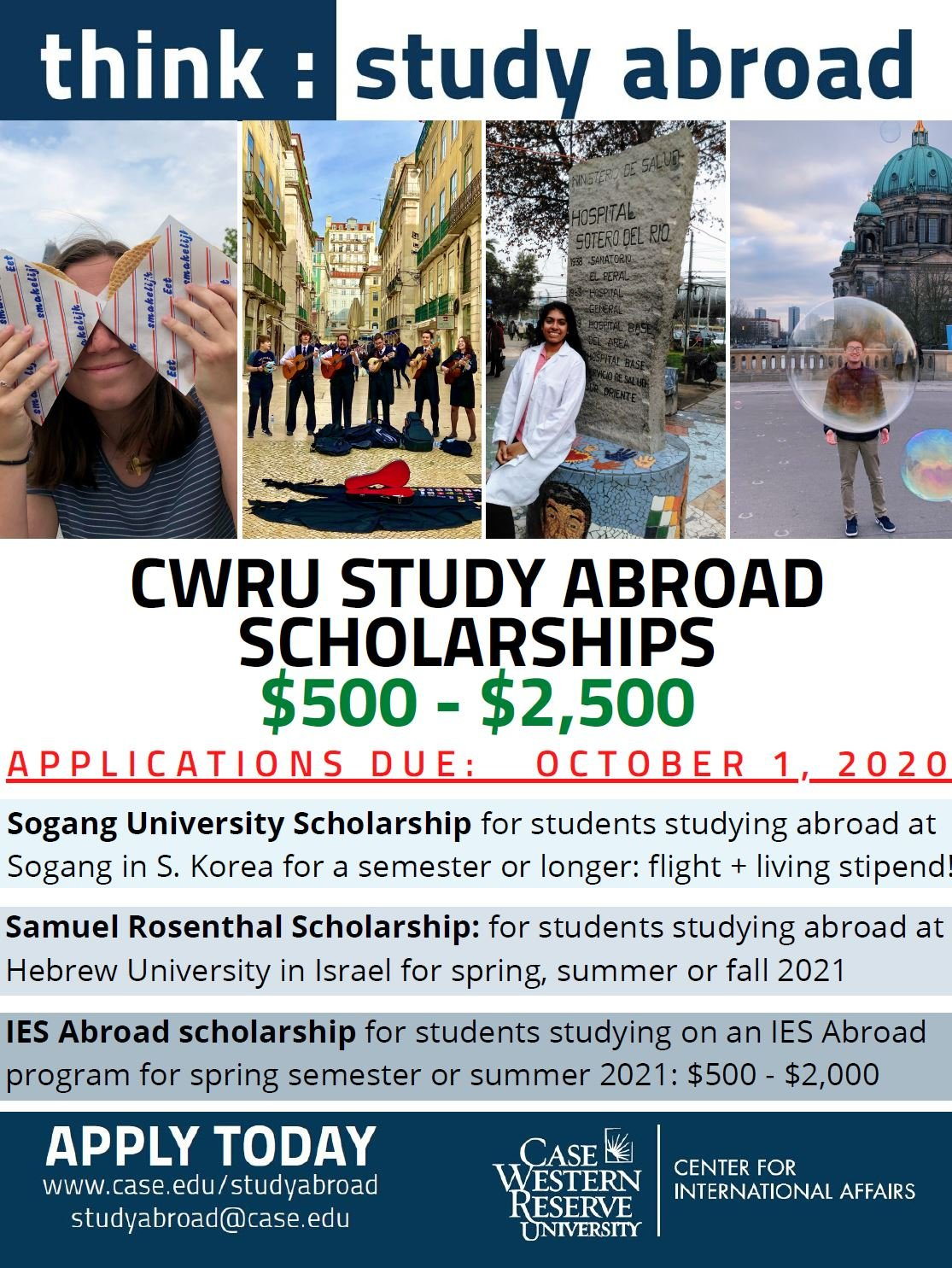 scholarship flyer for study abroad