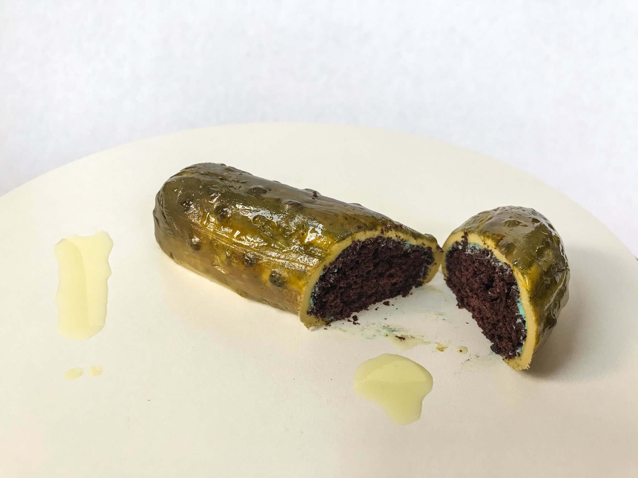 pickle shaped cake