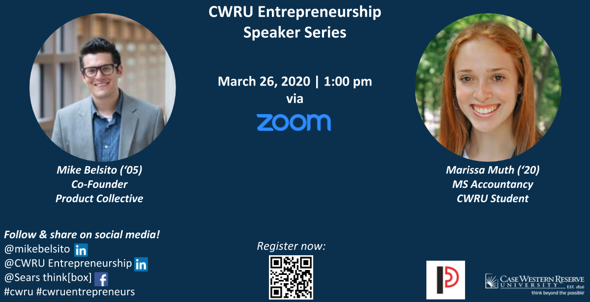 CWRU Entrepreneurship Speaker Series | Mike Belsito, Co-Founder, Product Collective (via Zoom)