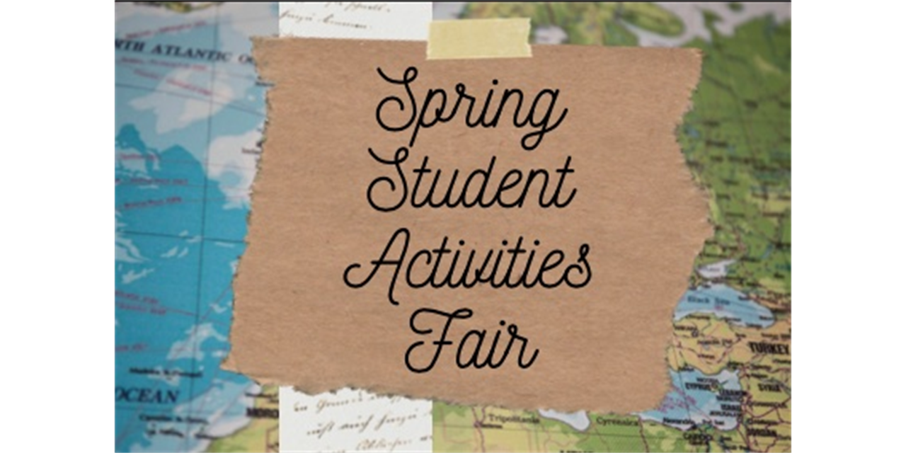 Spring Student Activities Fair 2021- Leadership: A Whole New World Event Logo