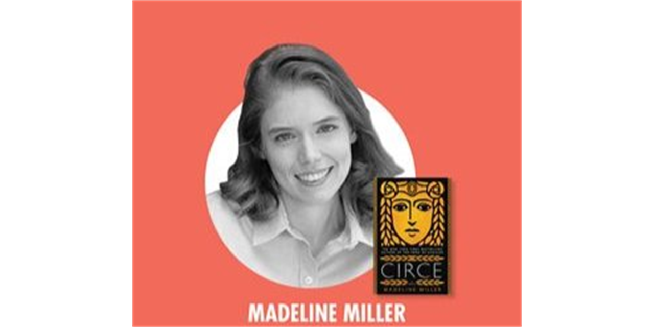 Writers Center Stage with author Madeline Miller Event Logo