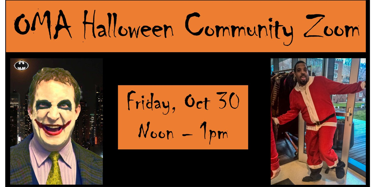 OMA Halloween Community Zoom Event Logo