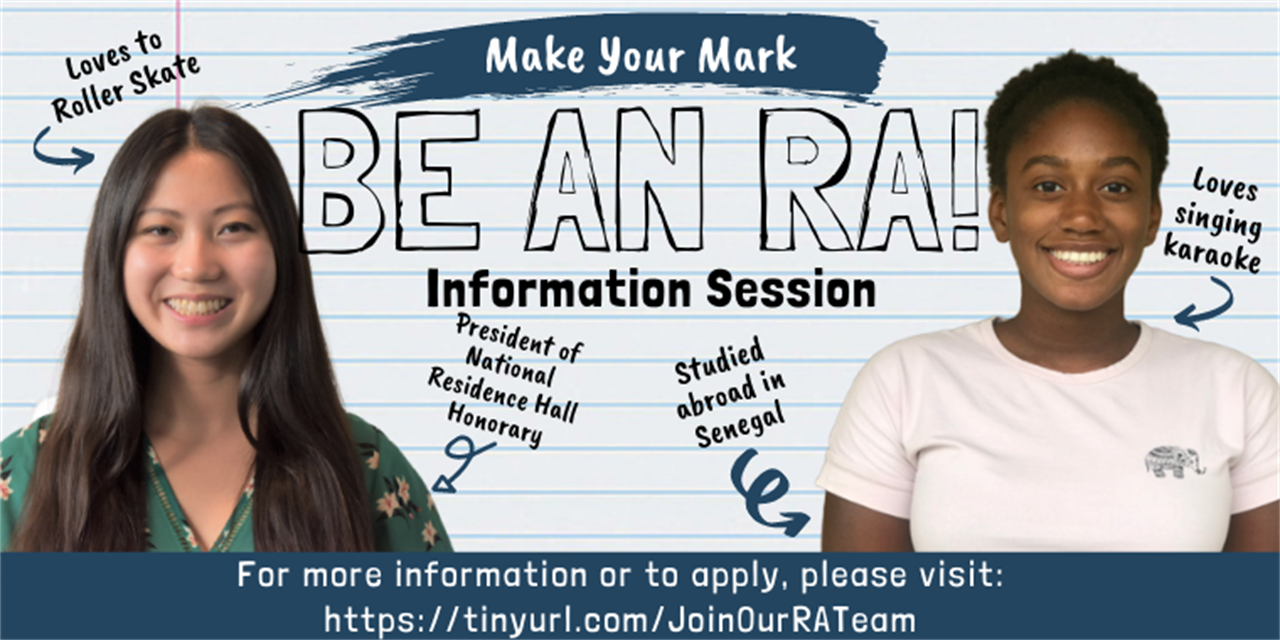 Virtual RA Info Session: Jan 27 Event Logo