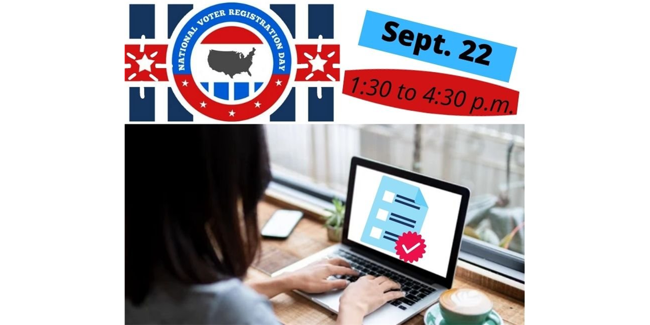 National Voter Registration Day Virtual Event Event Logo