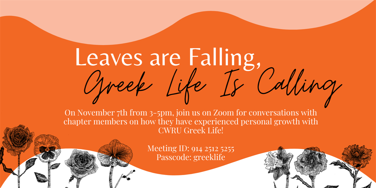 Leaves are Falling, Greek Life is Calling Event Logo
