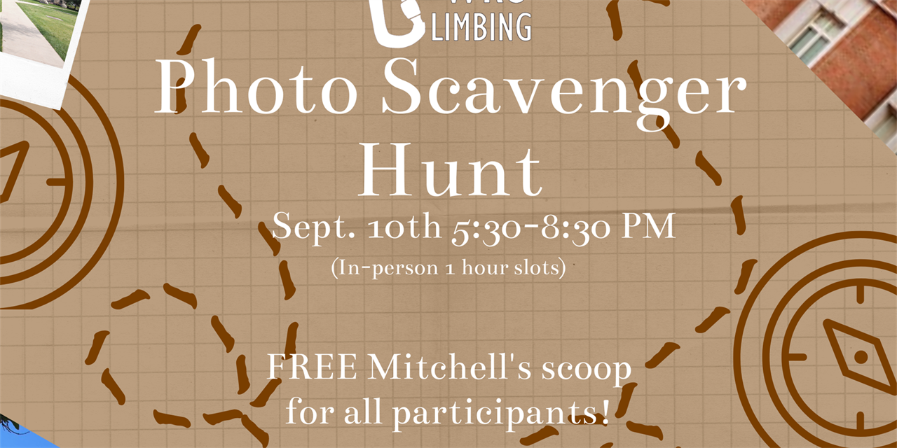 Climbing Club Photo Scavenger Hunt (In-Person) Event Logo