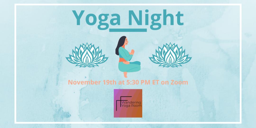 Virtual Yoga Night with CWRU Climbing Club Event Logo