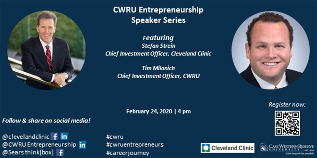 CWRU Entrepreneurship Speaker Series   Institutional Access to Venture Capital Event Logo