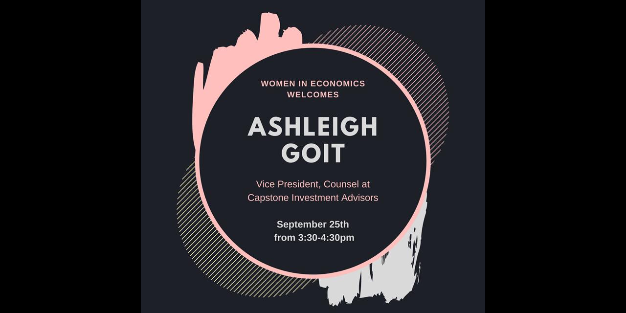 WE Speaker Event: Ashleigh Goit Event Logo