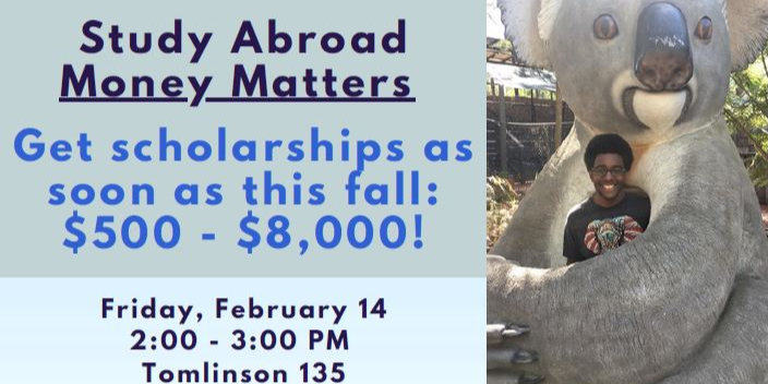 Study Abroad Money Matters Event Logo