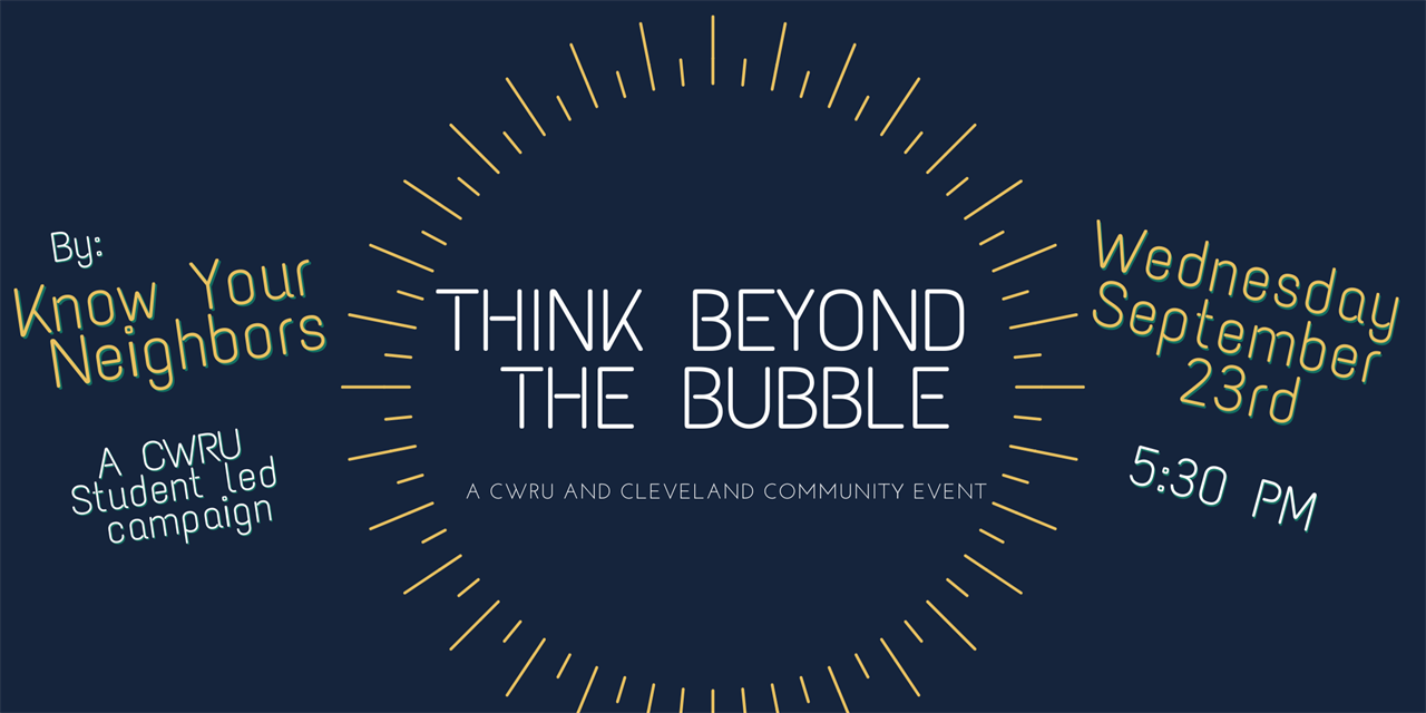 Think Beyond the Bubble: Cleveland Community Leader Panel Event Logo