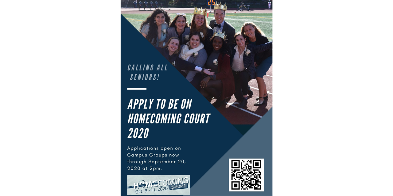 2020 Homecoming Royalty Application Event Logo