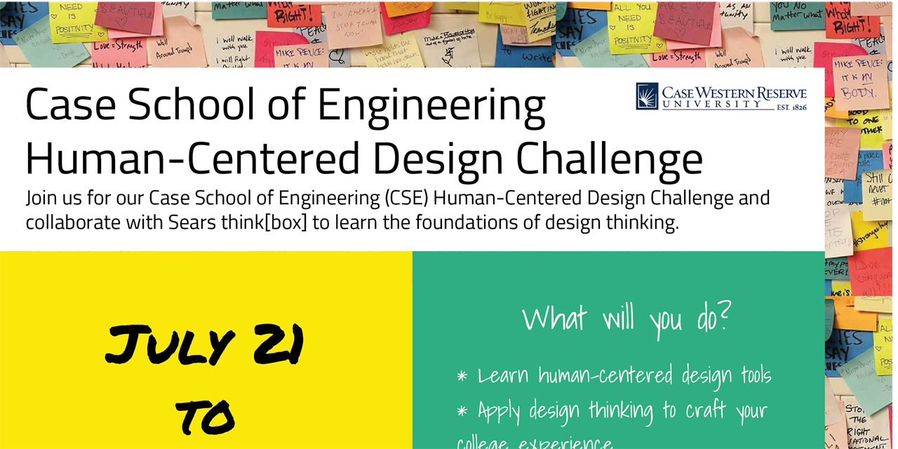 Case School of Engineering   Human-Centered Design Challenge (CSE Students Only) Event Logo