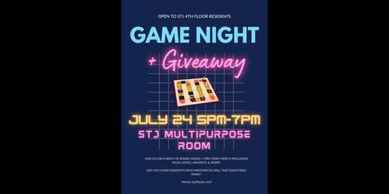 Gamenight + Giveaway - 4th Floor STJ Event Logo