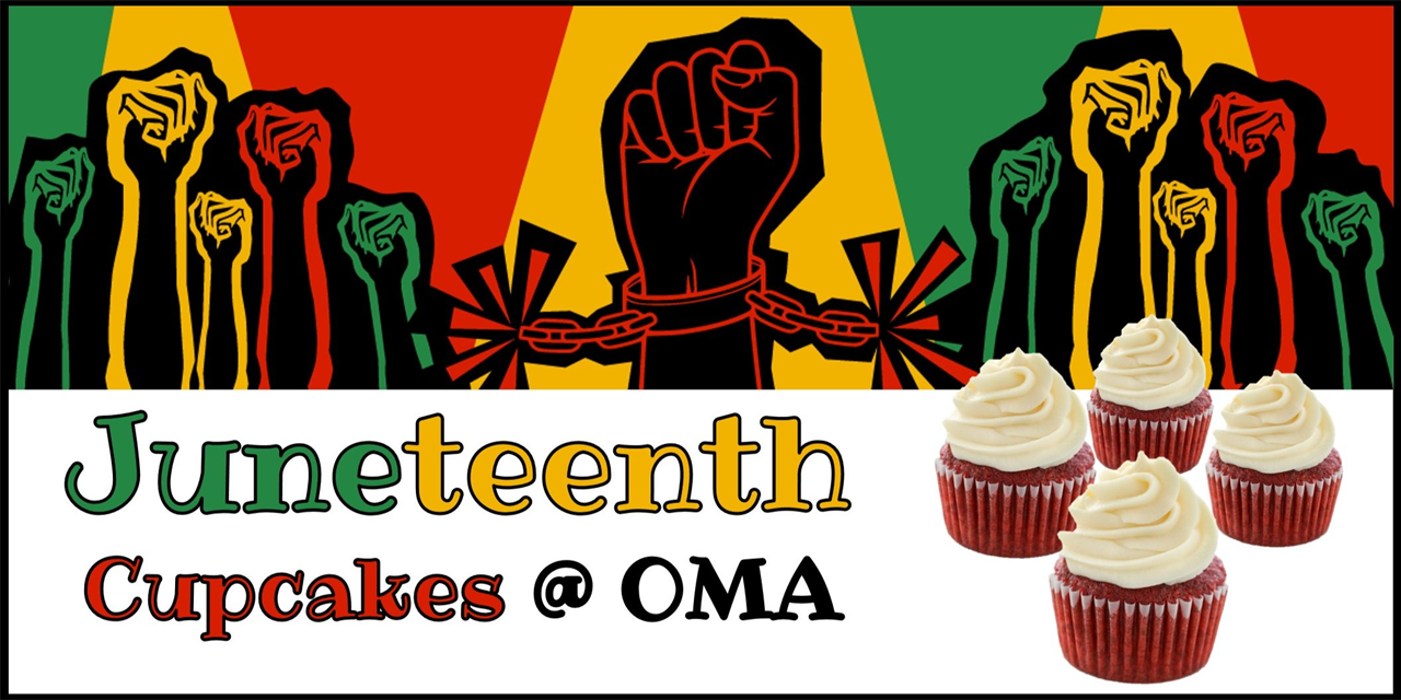 Celebrate Juneteenth with OMA & Free Red Velvet Cupcakes! Event Logo