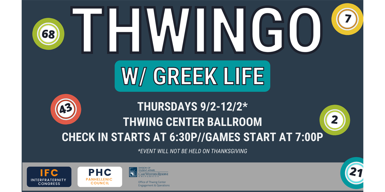 Thwingo w/Greek Life Event Logo