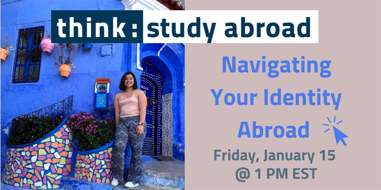 Friday Forum - Navigating Your Identity Abroad Event Logo